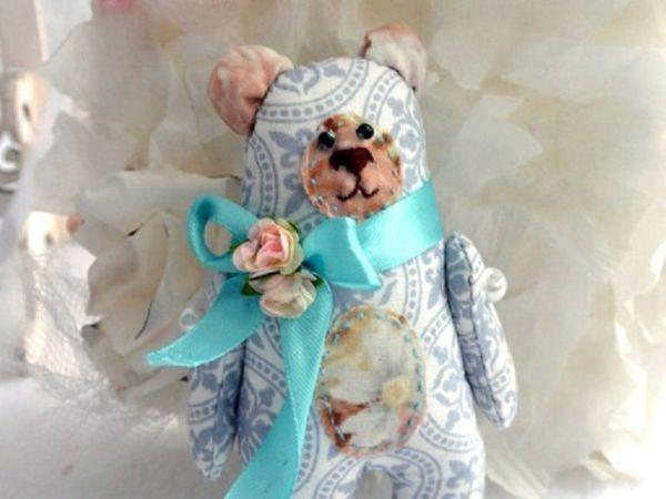 Шьем нежного текстильного мишку своими руками | Ярмарка Мастеров - ручная работа, handmade