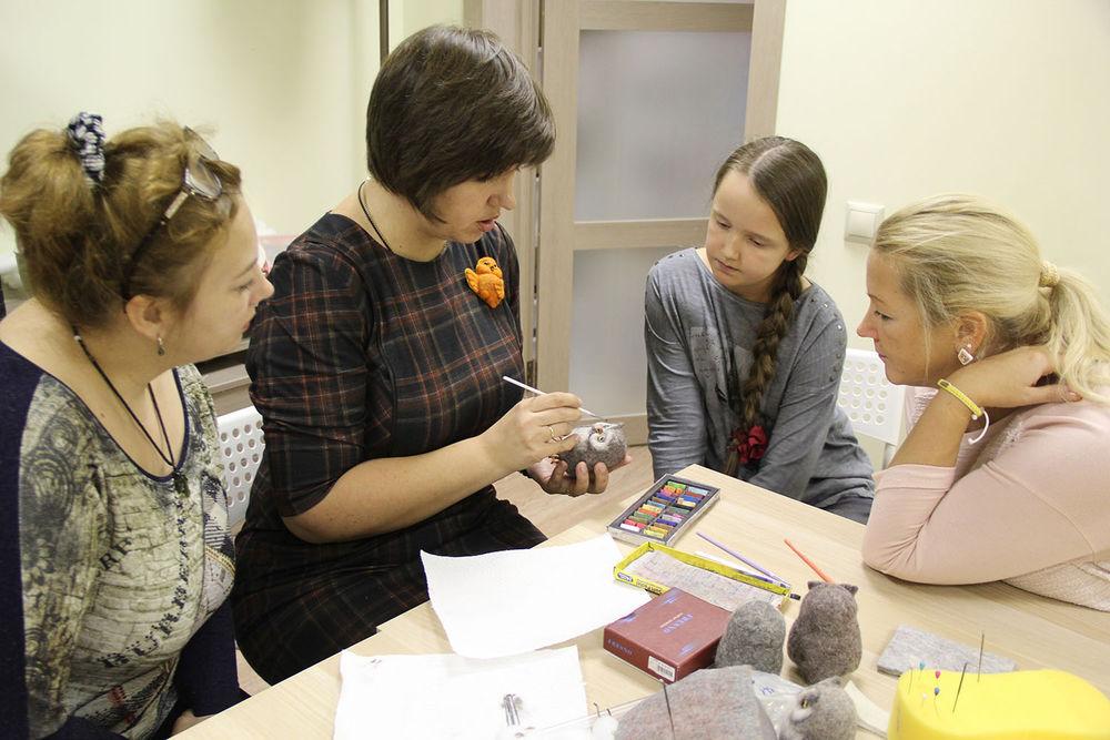 Отчет о мастер-классе Елены Колтуновой по валянию совенка, фото № 4