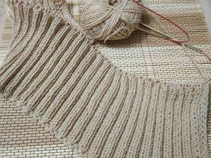 Джемпер Ждем весну - вяжем спинку и перед. Ярмарка Мастеров - ручная работа, handmade.