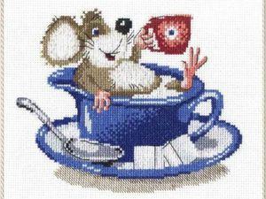 Очаровательные мышата: идеи и схемы для вышивки крестом. Ярмарка Мастеров - ручная работа, handmade.