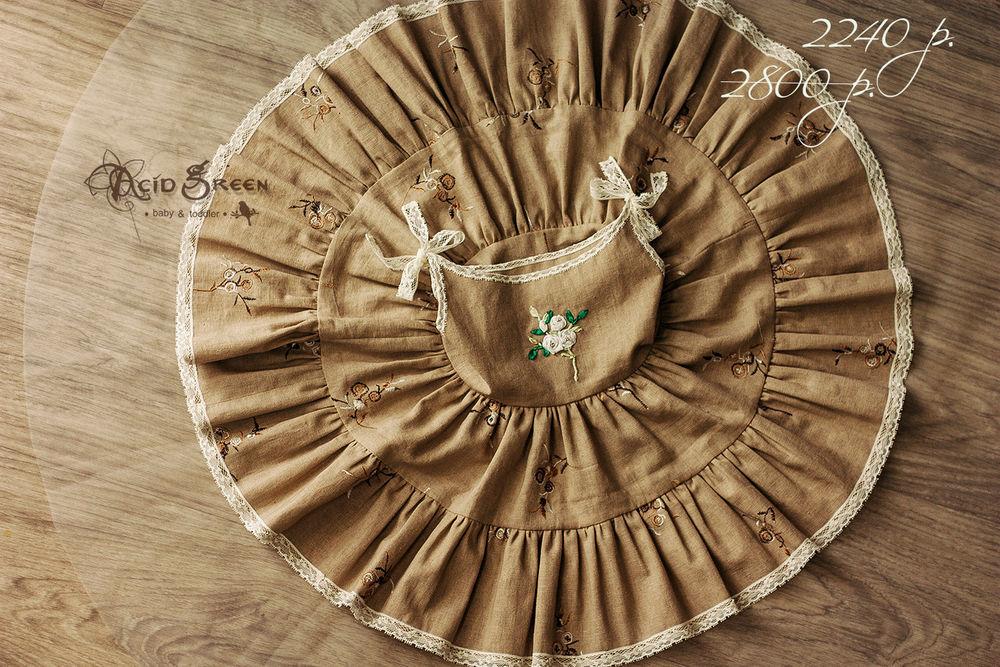 платье с принтом, платье для девочки, в единственном экземпляре