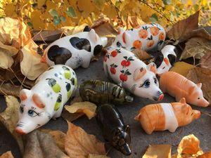 Символ 2019 года. Коллекция статуэтка Свинья. Ярмарка Мастеров - ручная работа, handmade.