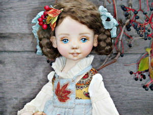 Даренка. Текстильная куколка- Осень.. Ярмарка Мастеров - ручная работа, handmade.