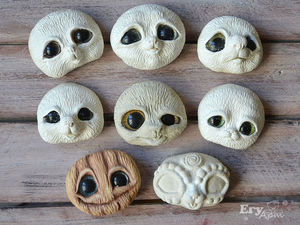 Лепные мордочки и этапы создания игрушек из них. Ярмарка Мастеров - ручная работа, handmade.