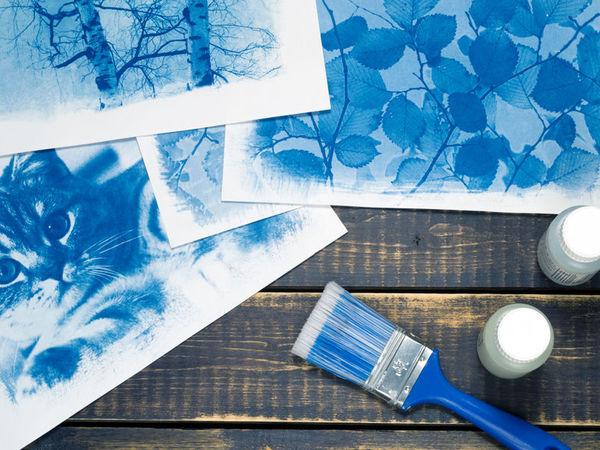 Цианотипия: печатаем фотографии на акварельной бумаге | Ярмарка Мастеров - ручная работа, handmade