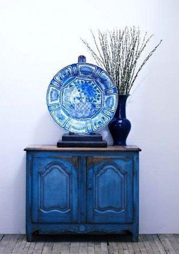 голубой, винтажный стиль