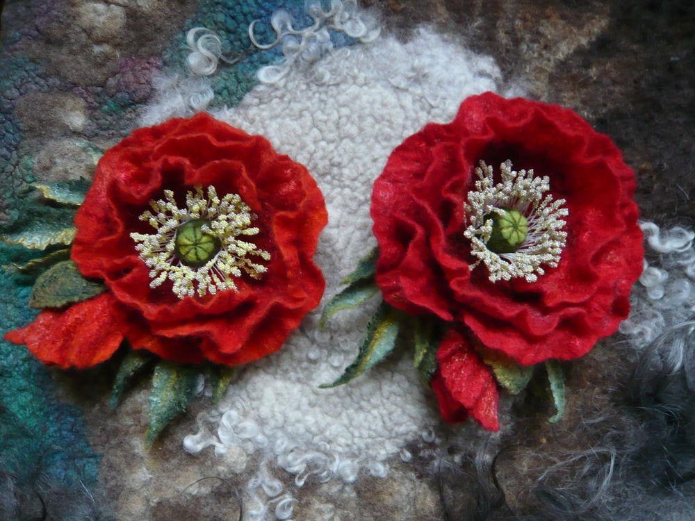 валяный цветок