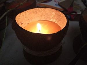 Мастерим новогодние ароматные свечи из кокоса. Ярмарка Мастеров - ручная работа, handmade.