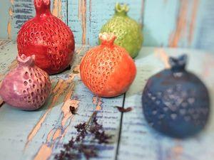 Керамические гранаты | Ярмарка Мастеров - ручная работа, handmade