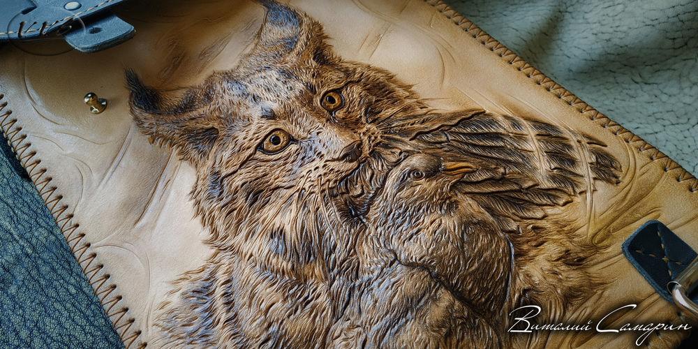 рысь, сумка из натуральной кожи, модная сумка, тиснение на коже