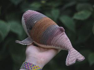 Новая игрушка - кит по имени Майя. Ярмарка Мастеров - ручная работа, handmade.