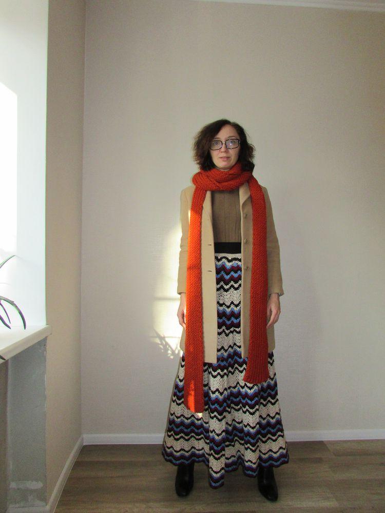 юбка длинная, look