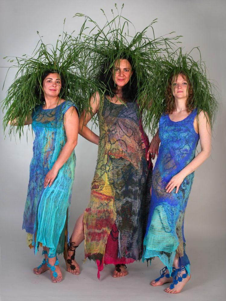 елена смирнова, платья русалки, платье из марли, видео-курс, обучение валянию, летнее платье, акция, иван-купала