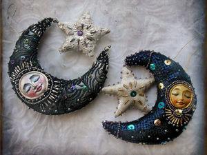 Месяц золотой и серебренный. Ярмарка Мастеров - ручная работа, handmade.