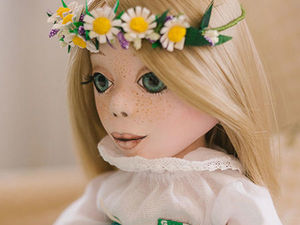 Девчушка в зеленом. Ярмарка Мастеров - ручная работа, handmade.