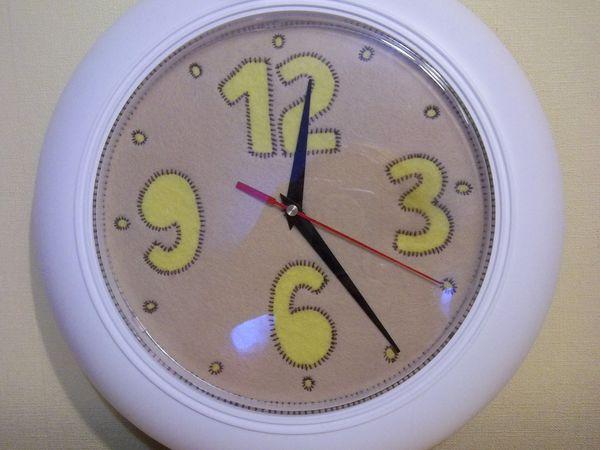 Делаем фетровый циферблат для часов | Ярмарка Мастеров - ручная работа, handmade