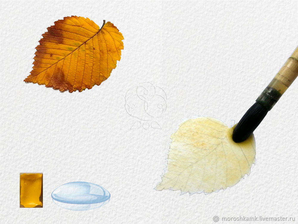 Drawing an Autumn Leaf with Watercolours, фото № 4