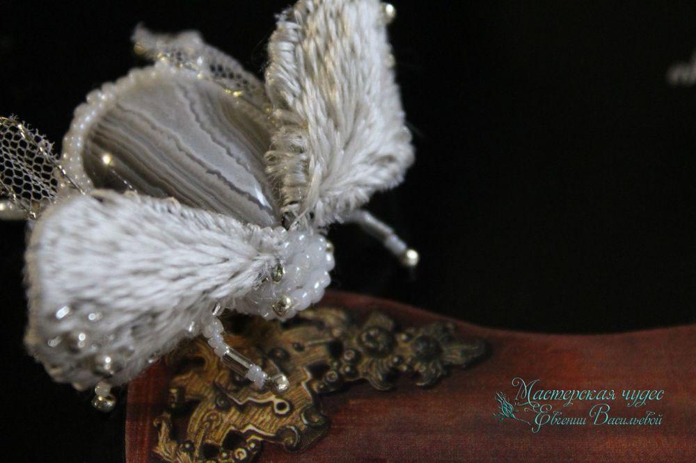 вышивка ручная, насекомые, стразы сваровски