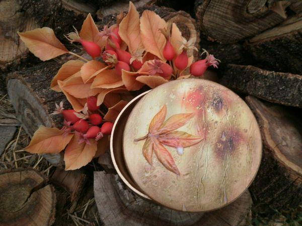 Декорируем шкатулку «Осенний дождь»   Ярмарка Мастеров - ручная работа, handmade