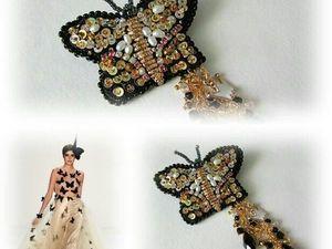 Анонс! Брошь Королевская бабочка от Olga Gardenia. Ярмарка Мастеров - ручная работа, handmade.