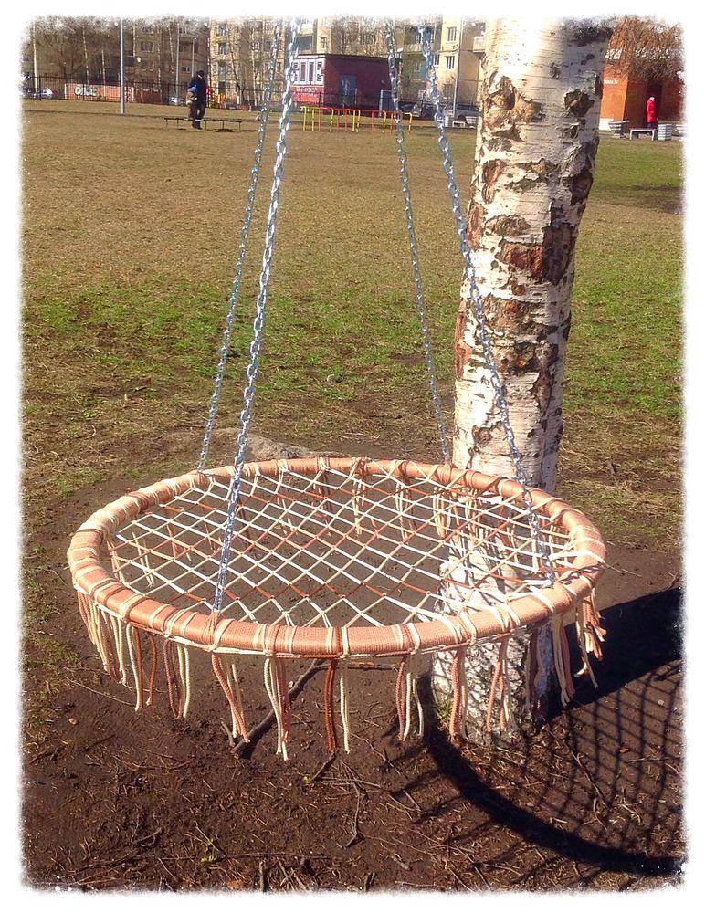 качель, макраме, плетение, стальная цепь, полипропиленовый шнур, для дома, для дачи, 5 мм, плетёное, качелька