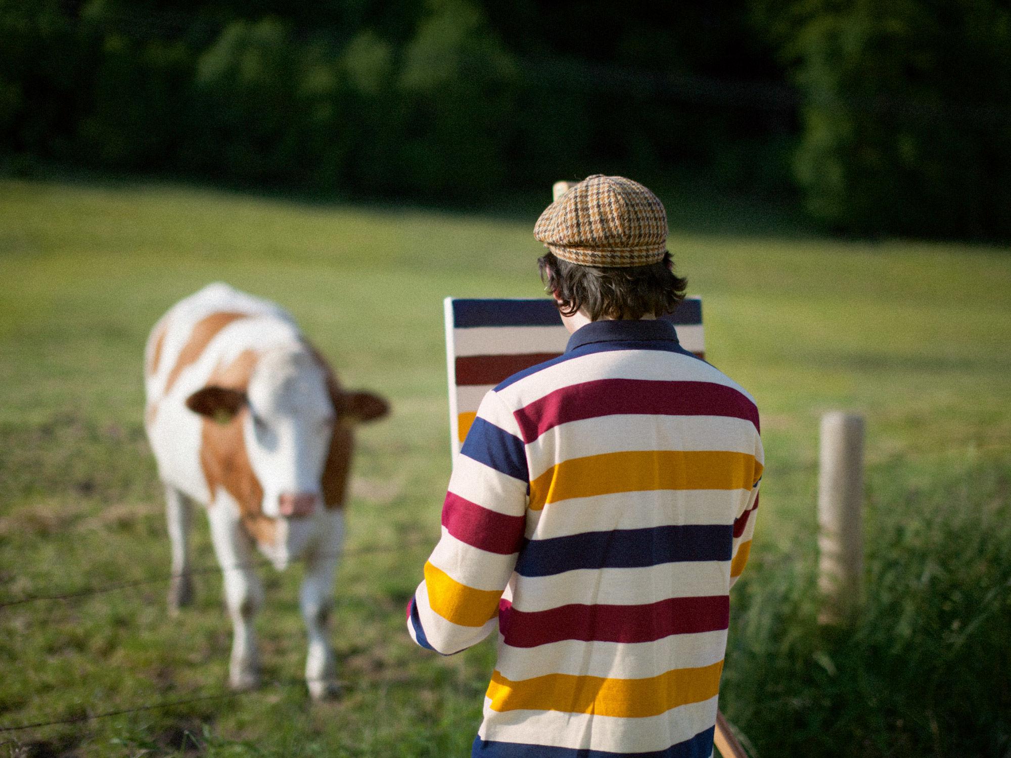 Идея для пленэра: вдохновляясь пейзажами великих, художник Hank Schmidt In Der Beek запечатлевает на холсте узоры своей рубашки