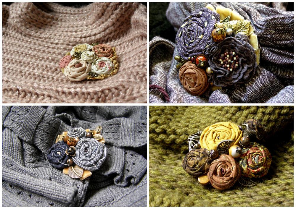 украшение из роз, украшение ручной работы