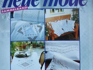 Neue  mode — спец. выпуск — белая вышивка  -1991. Ярмарка Мастеров - ручная работа, handmade.