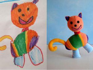 Игрушки, созданные мастером  по рисункам детей... | Ярмарка Мастеров - ручная работа, handmade