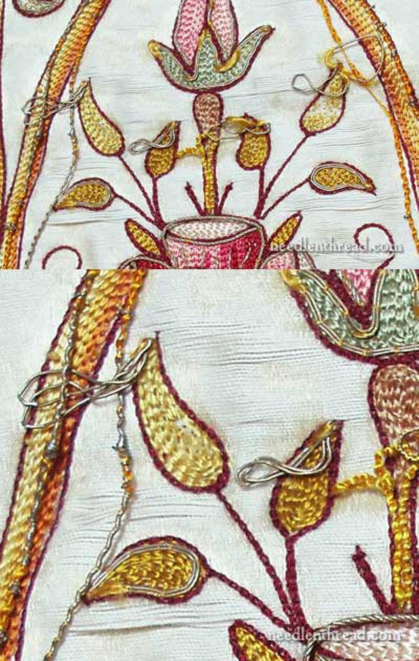 Фрагмент старинной вышивки на церковном одеянии из коллекции  Mary Corbet