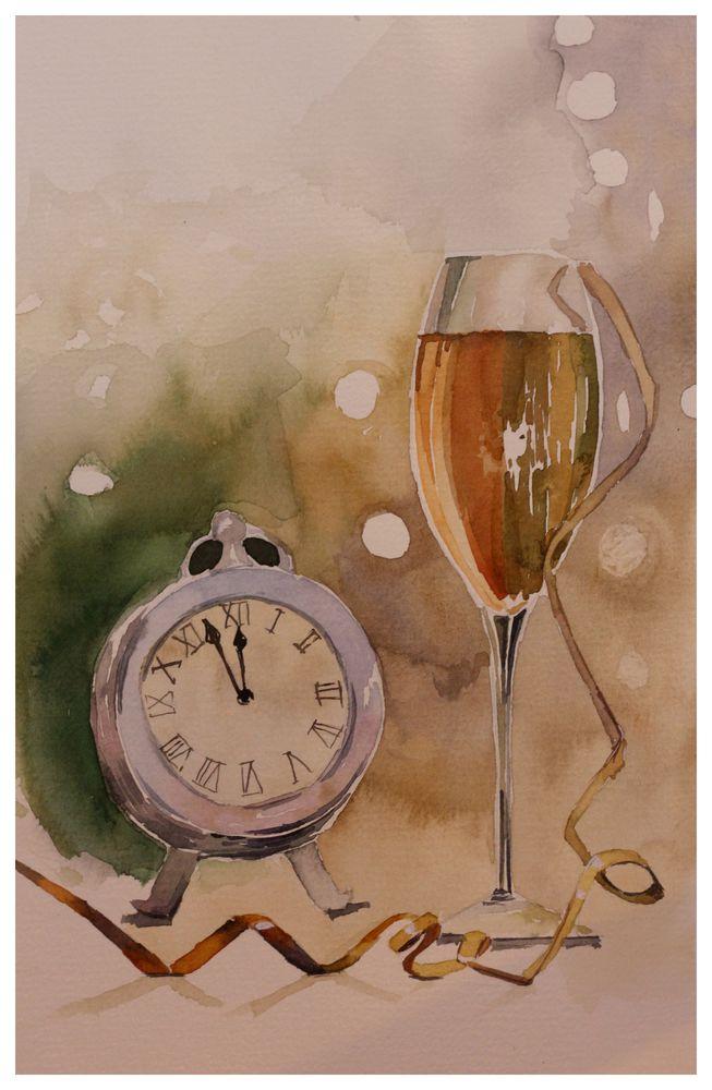 новый год, шампанское