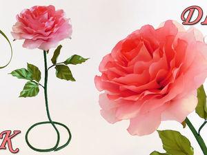 Делаем интерьерную розу из лент. Ярмарка Мастеров - ручная работа, handmade.