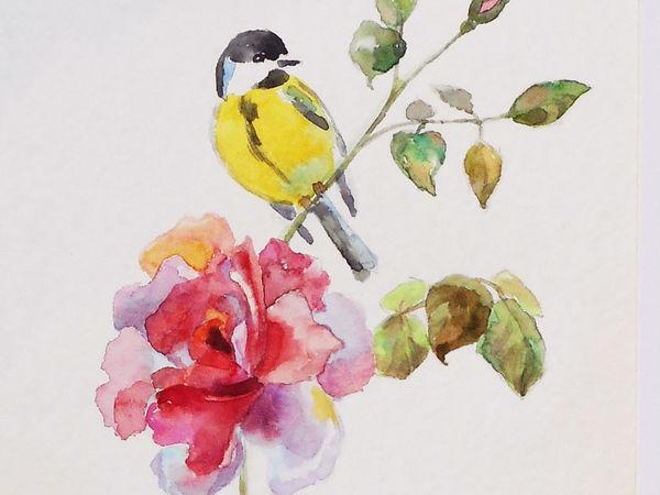 Рисуем акварелью нежные зарисовки | Ярмарка Мастеров - ручная работа, handmade