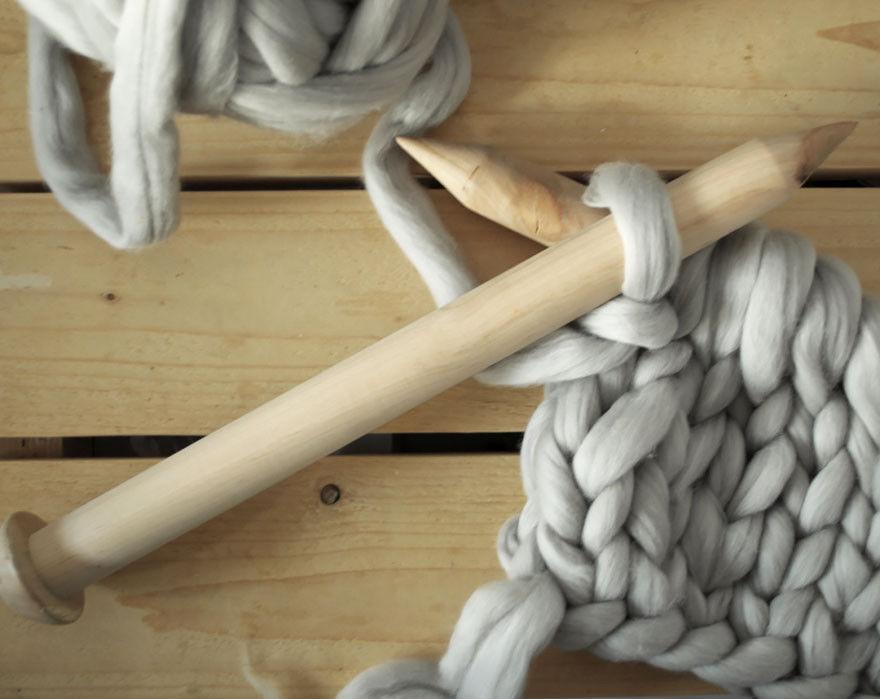 Очень толстая нитка для вязания 974