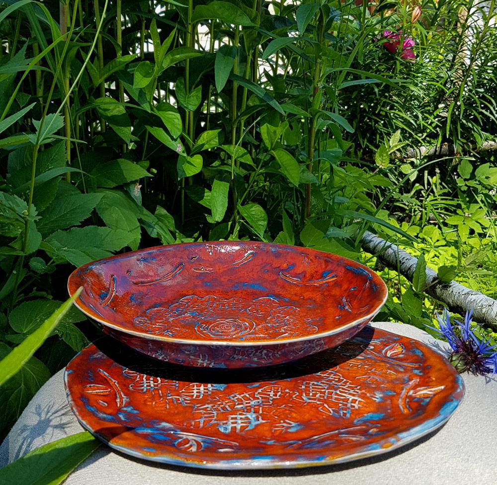 скидки на посуду, летние салатники, посуда для дачи