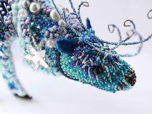 Новогодний олень. Создаем необычное интерьерное украшение в совмещенной технике вышивки и оригами. Ярмарка Мастеров - ручная работа, handmade.