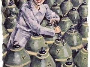 """День 48. Этюд на основе фото Второй Мировой """"Бомбы"""". Ярмарка Мастеров - ручная работа, handmade."""