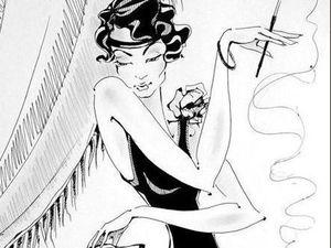 Ретро стиль. Графика. Дама с собачкой. Левретка. Ольга Грига. Ярмарка Мастеров - ручная работа, handmade.