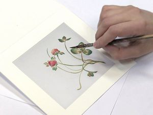 Мастер-класс по росписи открытки с шелком | Ярмарка Мастеров - ручная работа, handmade