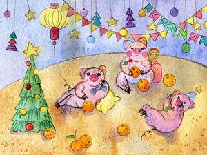 Новогодние открытки!. Ярмарка Мастеров - ручная работа, handmade.