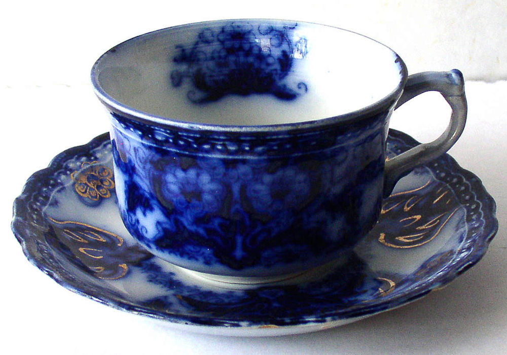 Flow blue — антикварная красота из Англии, фото № 23