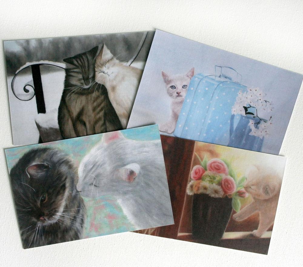 открытки, картина, праздник, oil painting