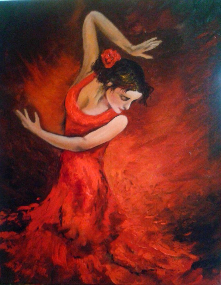 картина маслом, картина в подарок, картина для интерьера, фламенко