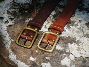 Ремни из винтажной итальянской кожи   Ярмарка Мастеров - ручная работа, handmade