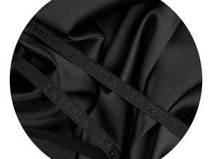 Шелк La Perla и плотная тонкая резинка в черном цвете. Ярмарка Мастеров - ручная работа, handmade.