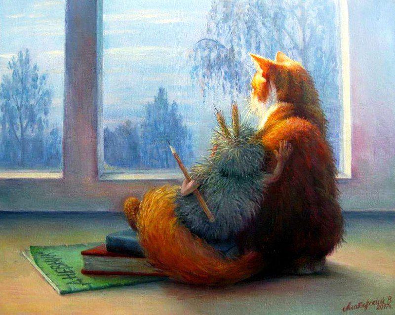 котики, смешные коты, вечер, хорошее настроение, блог савиной натальи