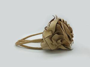 ВИДЕО-обзор кожаных карамельных роз (2 ролика). Ярмарка Мастеров - ручная работа, handmade.