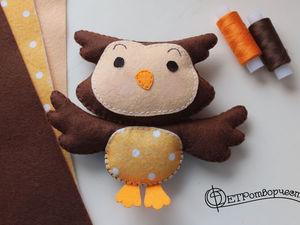 9 Steps to Make a Sweet Felt Owl. Livemaster - handmade