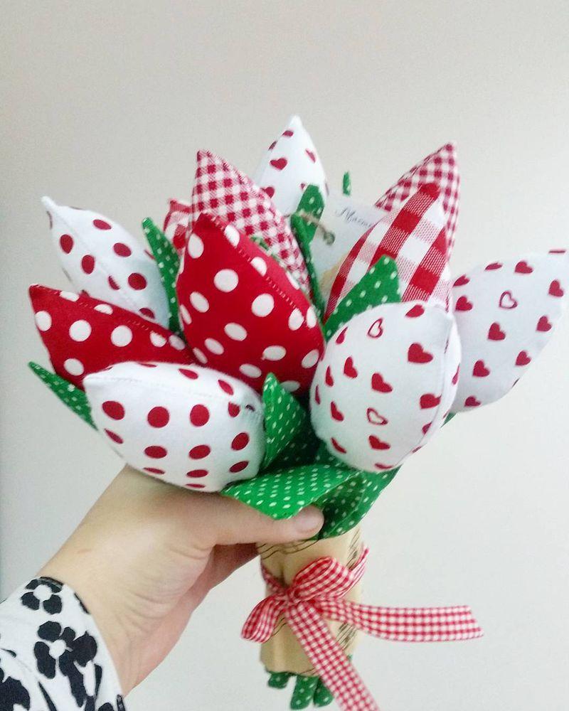 краснодар, подарки на 8 марта, подарки в краснодаре, тюльпаны, текстильные тюльпаны, мастерская вики, подарок своими руками, красные тюльпаны, тильда тюльпаны, доставка по россии, доставка по миру