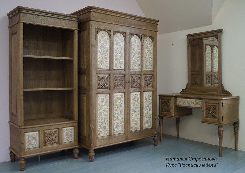 декор мебели, обучение росписи